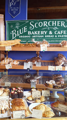 Some of the baked goods you can ogle as you approach the register of Blue Scorcher Bakery Cafe to order