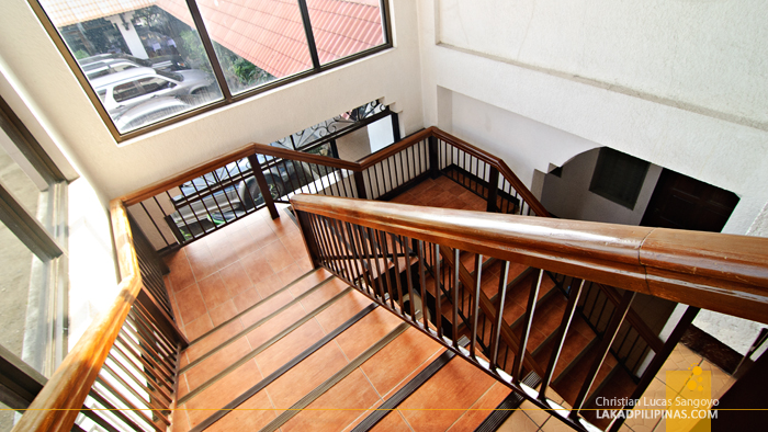The Main Stairway at San Carlos City's Skyland Hotel and Restaurant