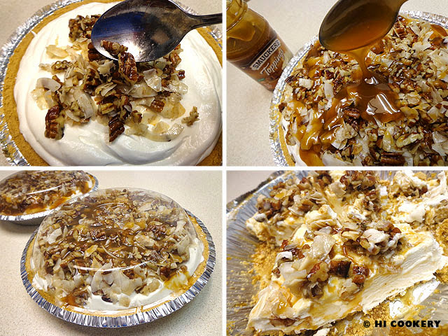 Caramel Pecan Delight Pie