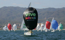 J/24s one-designs sailing Mexico