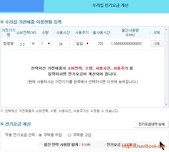 구글 크롬캐스트 한달 대기모드시 한국전력 전기요금