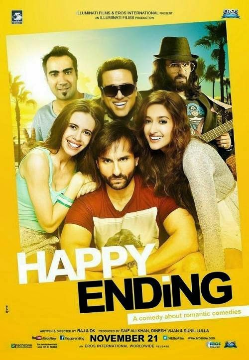 Poster Of Hindi Movie Happy Ending (2014) Free Download Full New Hindi Movie Watch Online At alldownloads4u.com