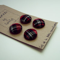 tartan fabric handmade by emily buttons