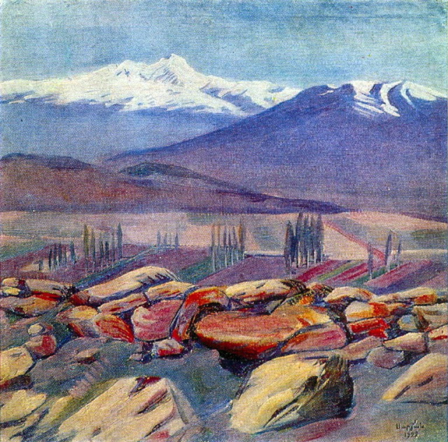 Martiros Saryan - Aragats and Mount Ara, 1922