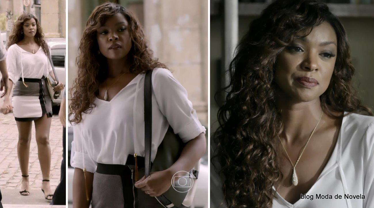 moda da novela Império - looks da Juliane dia 2 de agosto