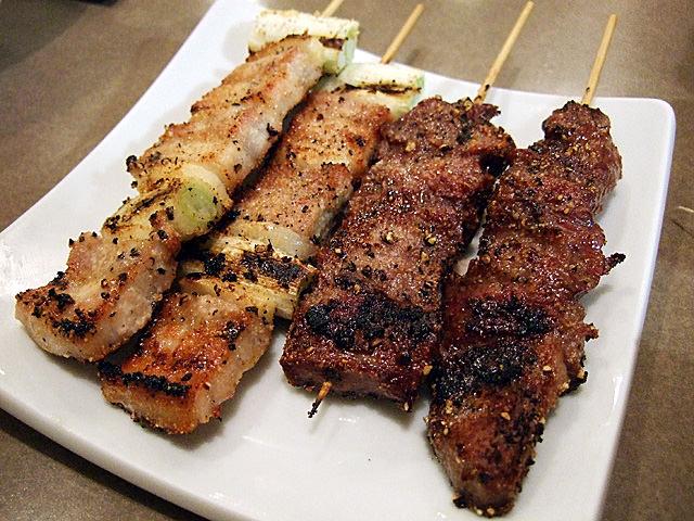 Garlic pork and cow tongue