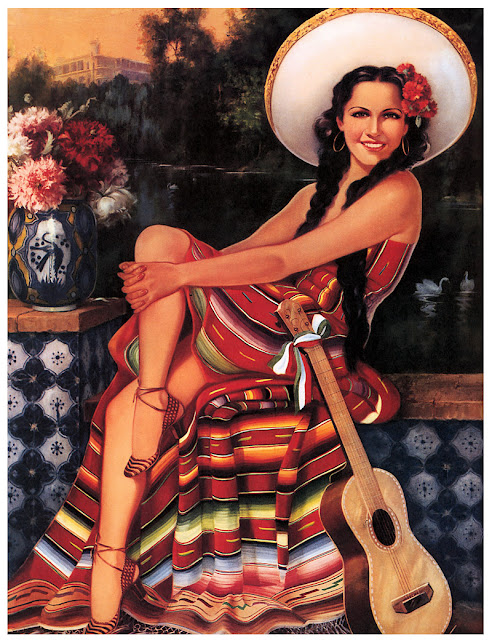 vintage illustrations mexican