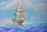 Home voyage by sea under full sail