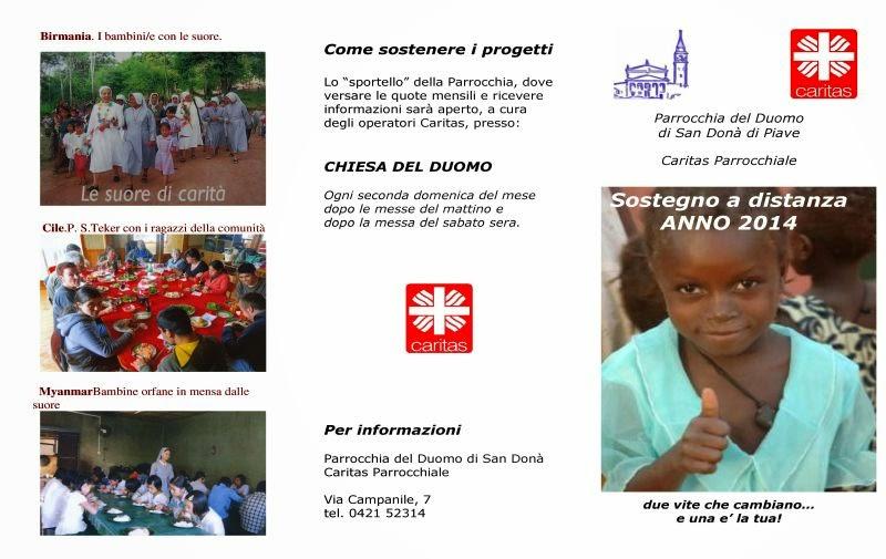 Sostegno a distanza Caritas 2014