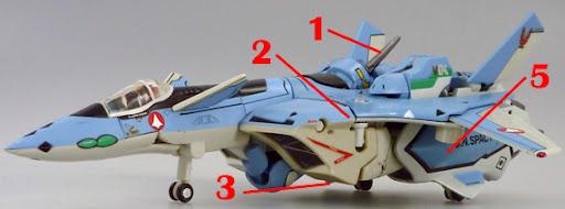 Macross VF-X2 VF-19A VF-X Ravens Excalibur Armament weapon position