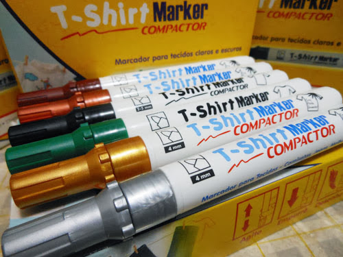 Sorteio Customizando - canetas para tecido Compactor
