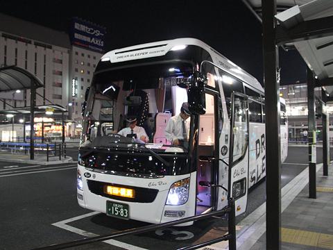 中国バス「ドリームスリーパー」 G1201 福山駅前改札中