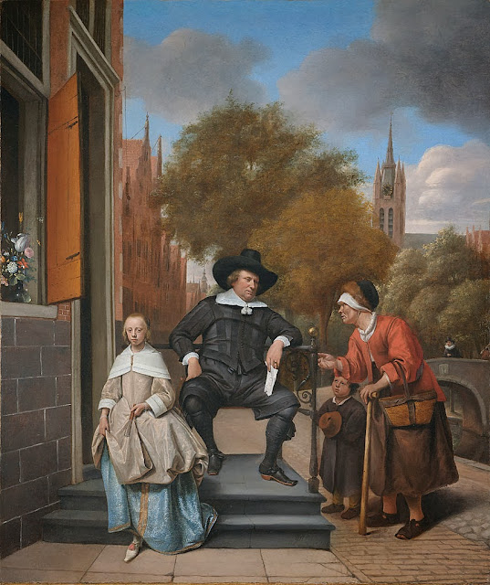 Jan Steen - Adolf and Catharina Croeser on the Oude Delft