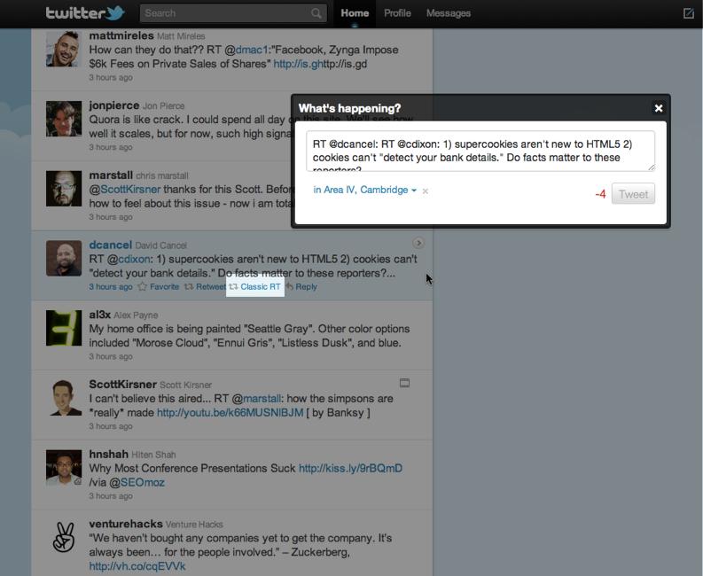 f1e77cd766 Screenshot of Classic Retweet Download for Firefox