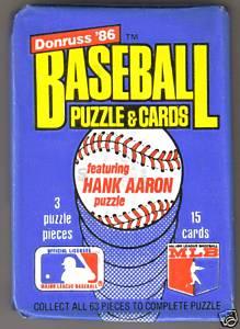 Kogwards Garage Sale Donruss 1986 Baseball Cards Unopened Wax Pack