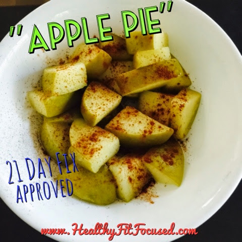 "21 Day Fix Approved Recipe, healthy dessert, healthy snack, ""Apple Pie"""