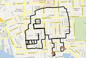 WallyGPX, el artista cuyo pincel es la bici y un mapa su lienzo