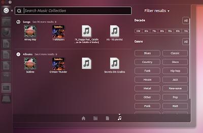 Music Lens Ubuntu 11.10 Oneiric Ocelot