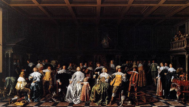 Jan Miense Molenaer - Marriage of Willem van Loon and Margaretha Bas