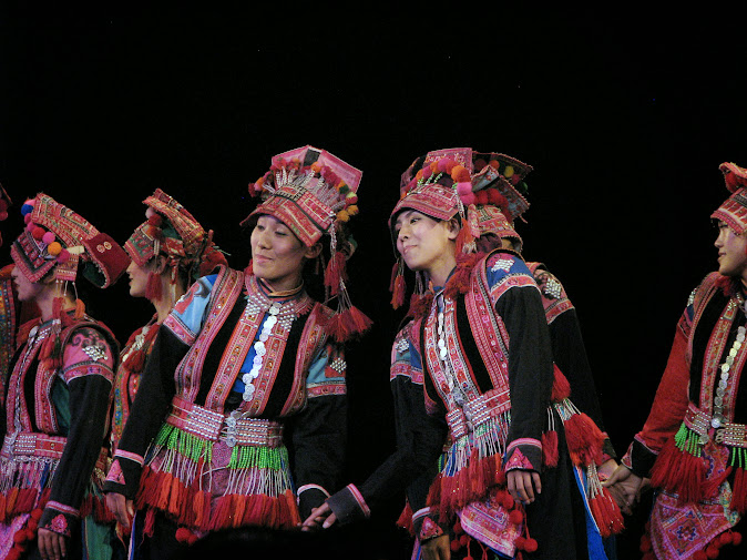 Dance of the Huayao tribe (Yi minority group) at the Dynamic Yunnan show, Kunming, Yunnan