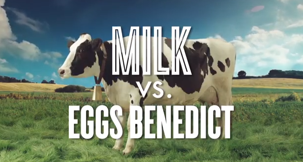 California Milk Processor Board New Ad Campaign, Protein Fight Club puts Milk vs. just about every other breakfast