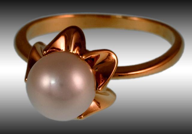 Кольцо с жемчугом от ювелирной компании Диамант-13