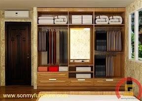 Mẫu tủ quần áo âm tường SMF 741
