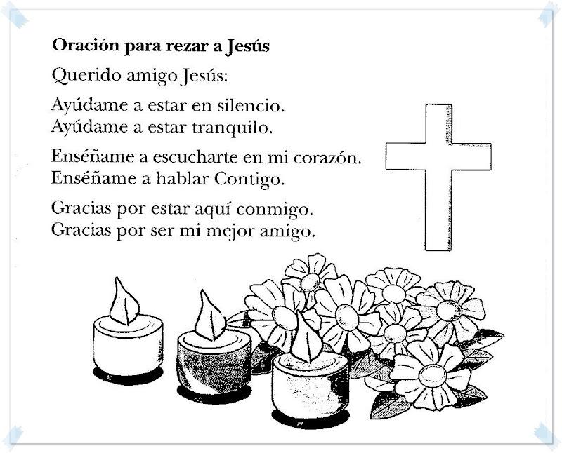Oración para rezar a Jesús para colorear