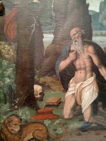 San Jerónimo, patrón de los escritores, pero con esos abdominales también podría ser el patrón de los gimnasios.