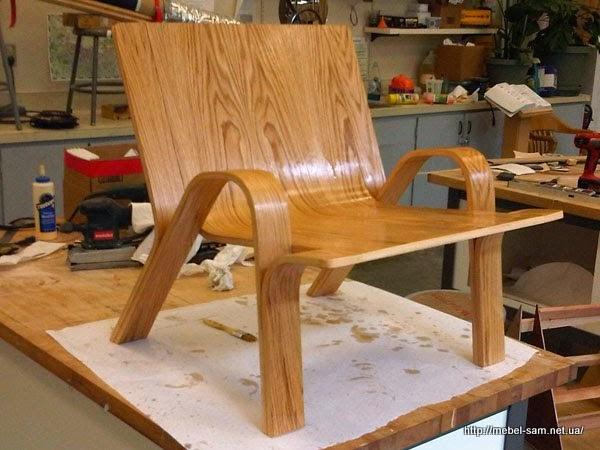 Лакирование фанерного кресла