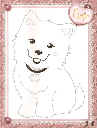 desenhar filhotes da Jolie Tilibra e colorir
