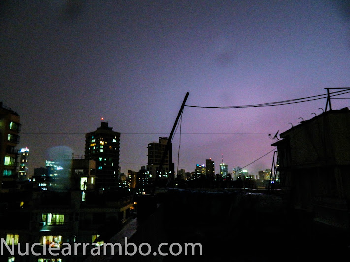 Thunderstorm in Mumbai october 2012