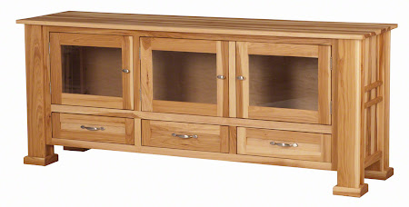 "70"" wide x 30"" high Hagen Entertainment Center Shown in Natural Hickory"