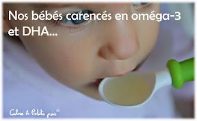 huiles alimentaires bébé oméga-3 DHA