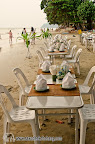Dinner tables at White Sand beach