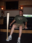 when he's not farting bad, Pete can balance a baseball bat on his foot