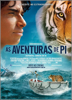 As Aventuras de Pi Dublado e Legendado DVDSCR