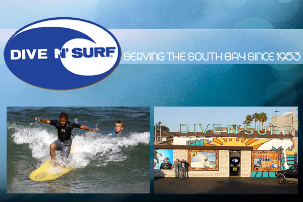 Surf Shops Redondo Beach Dive N' Surf Logo