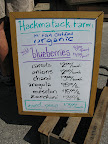 Hackmatack Farm sign from late August