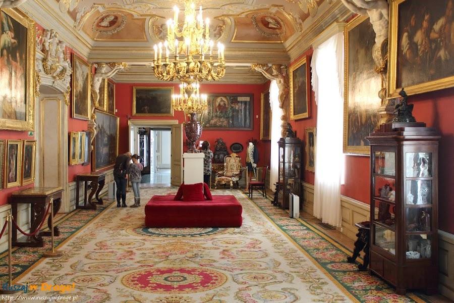 Warszawa Pałac w Wilanowie - bogate wnętrza