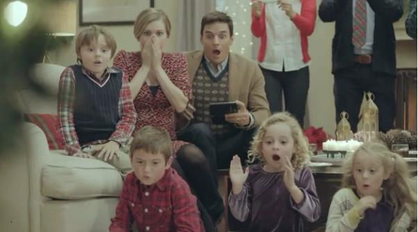 The Santa Slide and Fall Samsung Galaxy and Note TV Ads