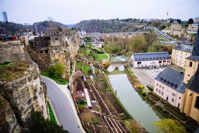 Chemin de la Corniche in Luxemburg luxembourg stad