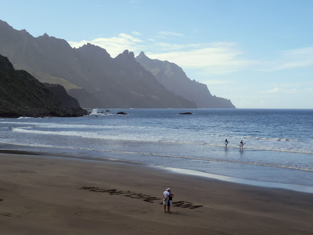 The beach at Roque de las Bodegas