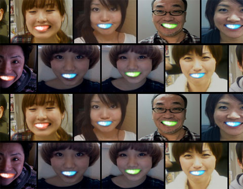 LED smiles - New Japanese fashion