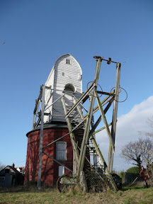 Friston Mill with the steps that carried the Fantail