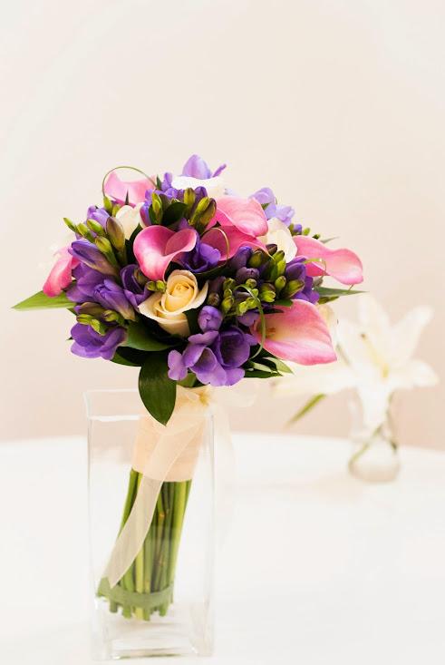 Un ramo de novia elegante e informal