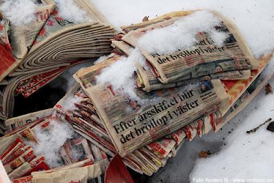 snö, snösmältning, direktreklam, reklam, ingen reklam tack, foto anders n