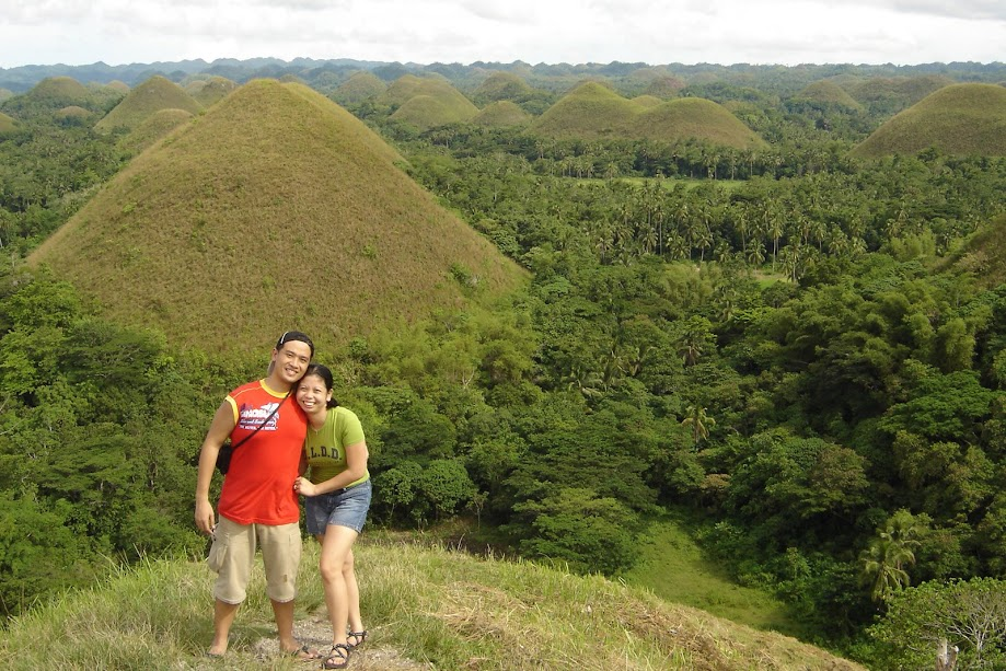 PauTravels and Jen at the Chocolate Hills of Bohol