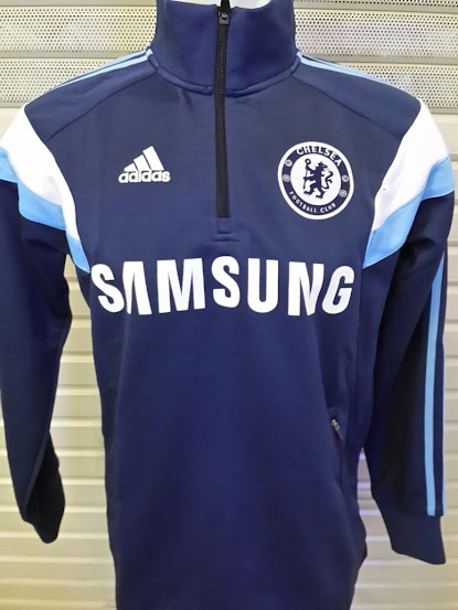 Sweater Pre Match Chelsea Blue Dongker 2014-2015