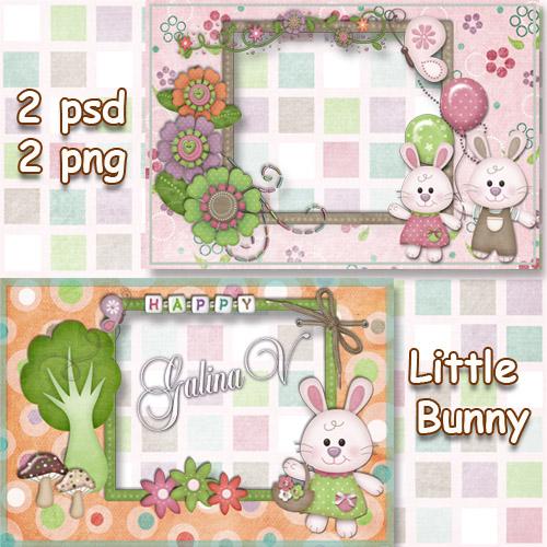 Детские рамки - Маленькие кролики